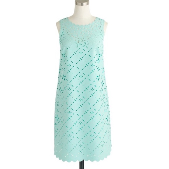 c3818e20b1aa J. Crew Dresses | J Crew Mint Laser Cut Shift Dress | Poshmark